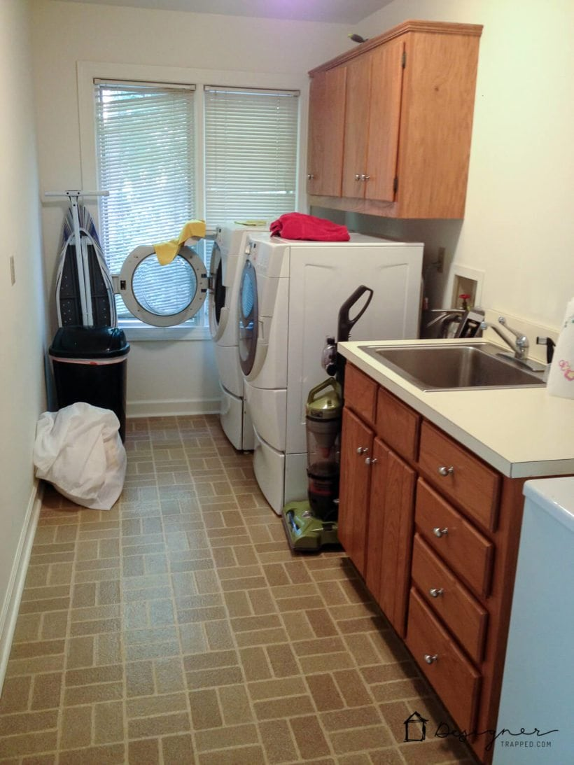old outdated laundry room