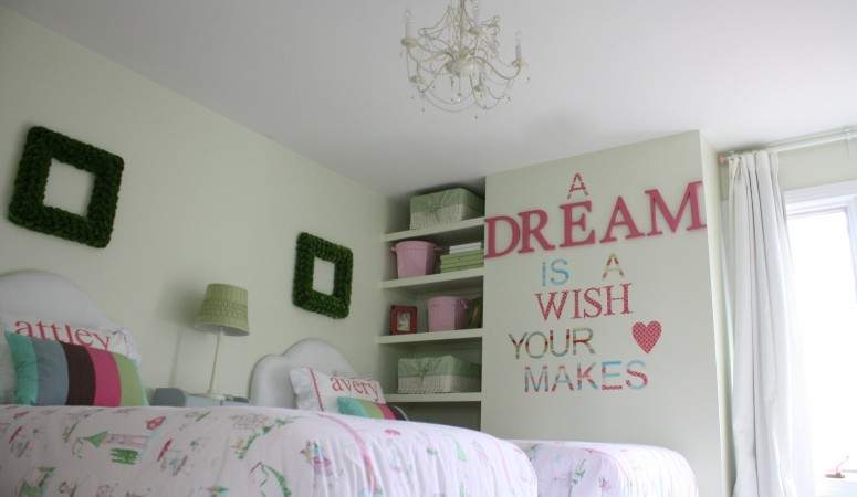 Shared Girls' Bedroom Reveal