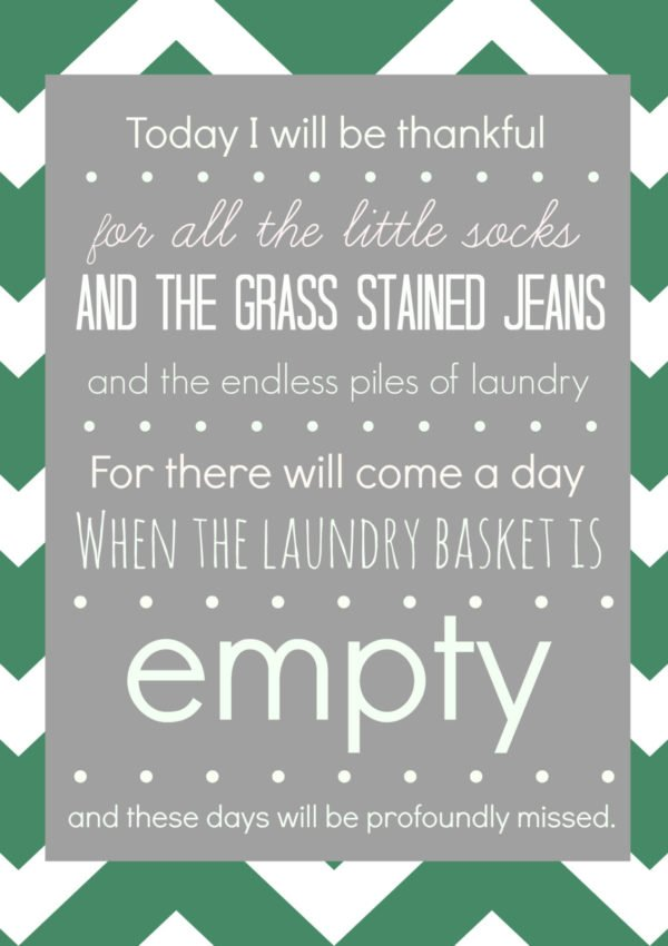 FREE Laundry Room Printable {that might make your eyes well up with tears}