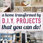 WOW! I cannot believe how much this home has been transformed by DIY home decor projects! This woman has really created a beautiful home without spending a fortune. I love all of her affordable home decor ideas and tips. Such a great home tour full of inspiration!