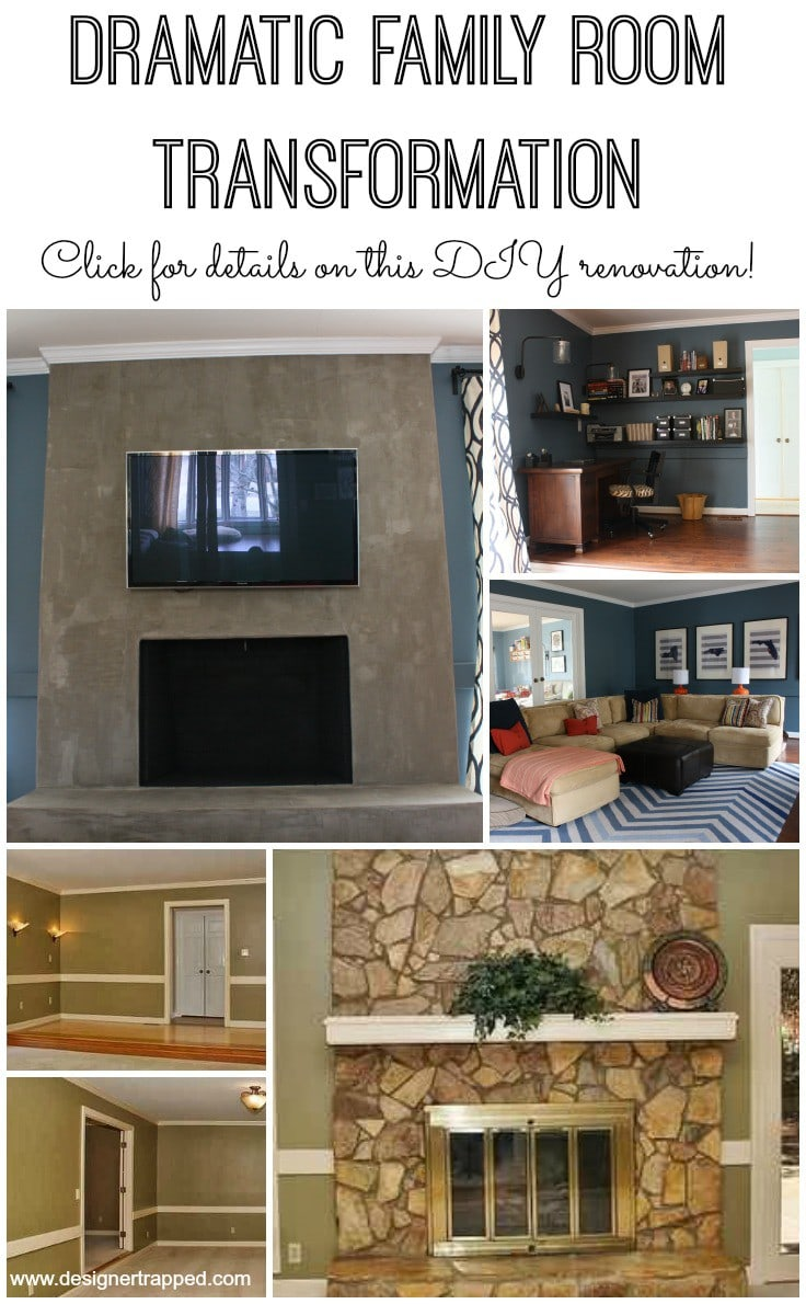 DIY Family Room Renovation by Designer Trapped in a Lawyer's Body {designertrapped.com}