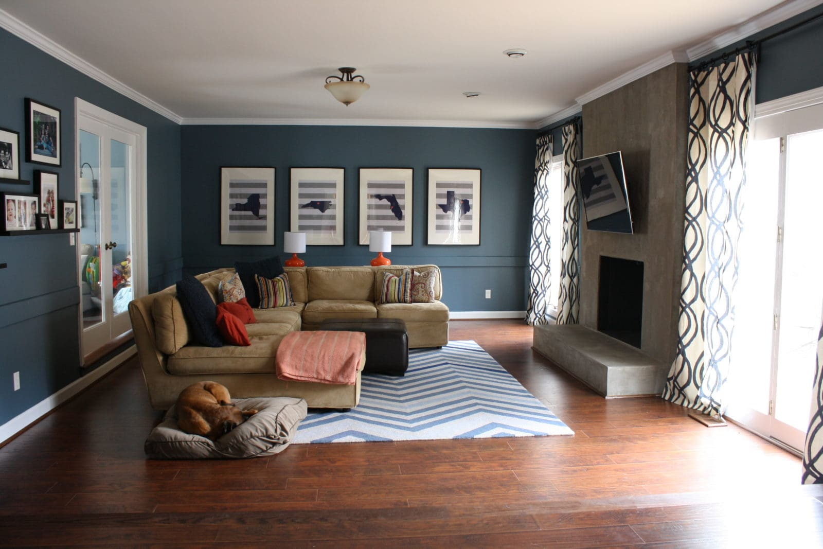 Diy family room renovation and reveal - Family room design ideas ...