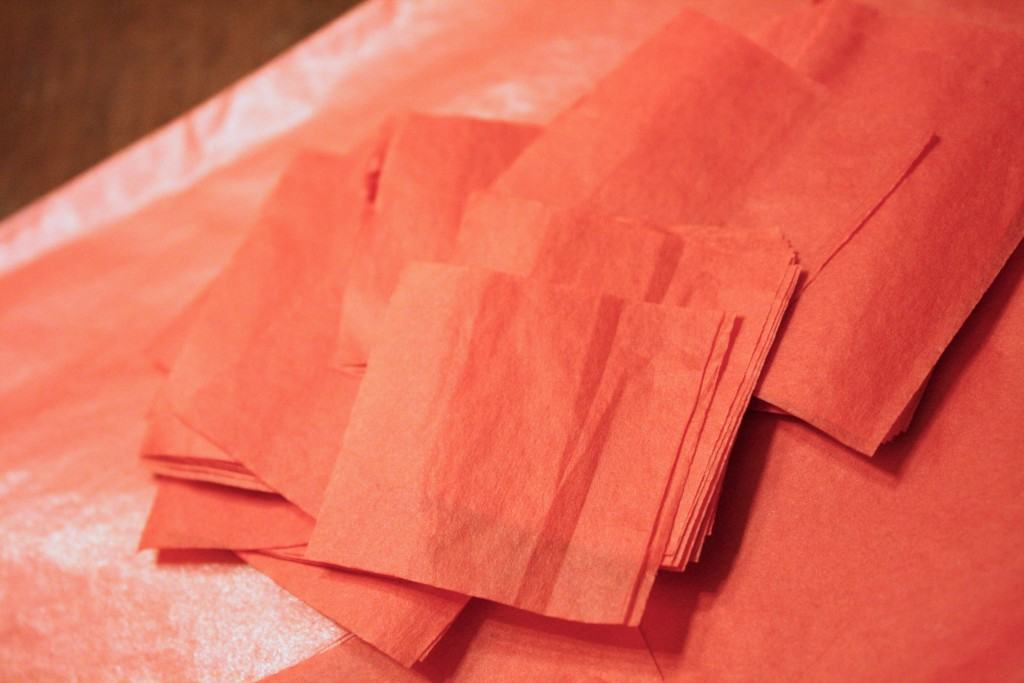 Tissue Paper Valentine's Day Craft by Designer Trapped in a Lawyer's Body {designertrapped.com}