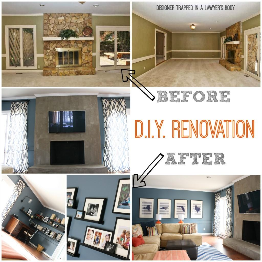 Dramatic Family Room Renovation by Designer Trapped in a Lawyer's Body {www.designertrapped.com}