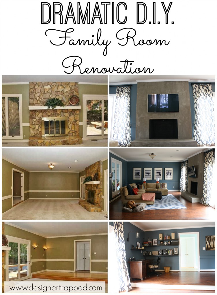 Contemporary Family Room/Den Renovation by Designer Trapped in a Lawyer's Body {designertrapped.com}
