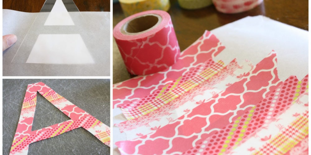 DIY Washi Tape Wall Decals by Designer Trapped in a Lawyer's Body {designertrapped.com}