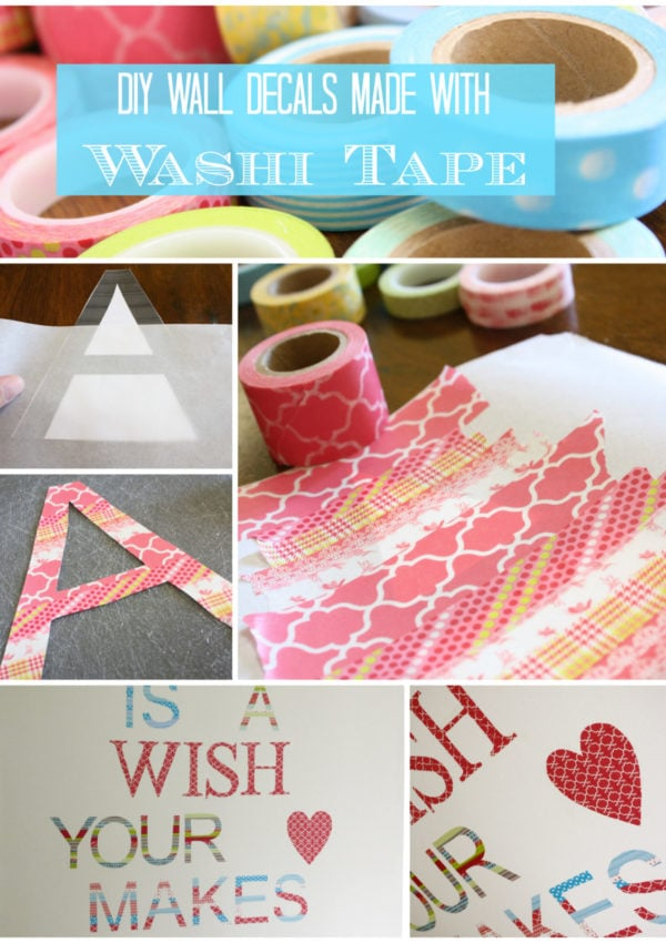 Make Your Own Washi Tape Wall Decals