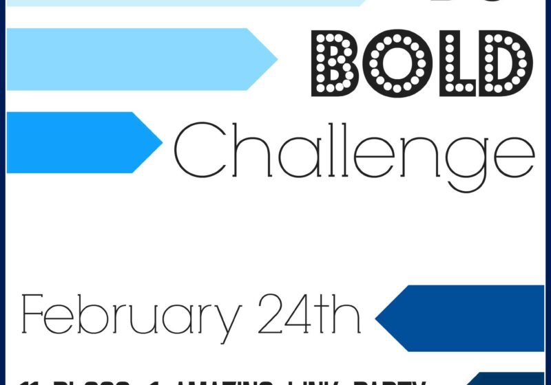 Join in the Be Bold Challenge and link up on February 24, 2014!