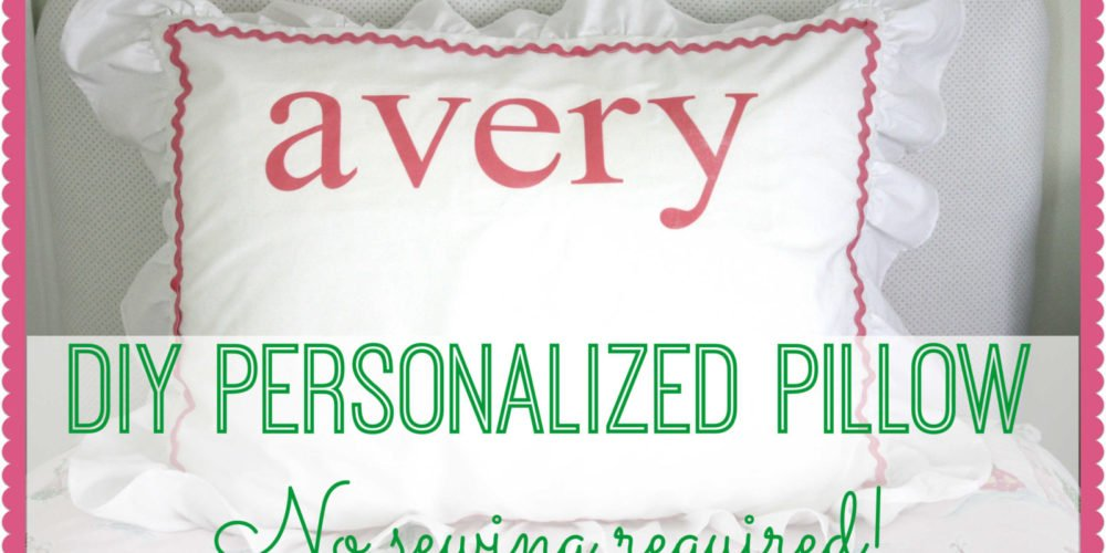 DIY Personalized Pillow Tutorial by Designer Trapped in a Lawyer's Body {designertrapped.com}