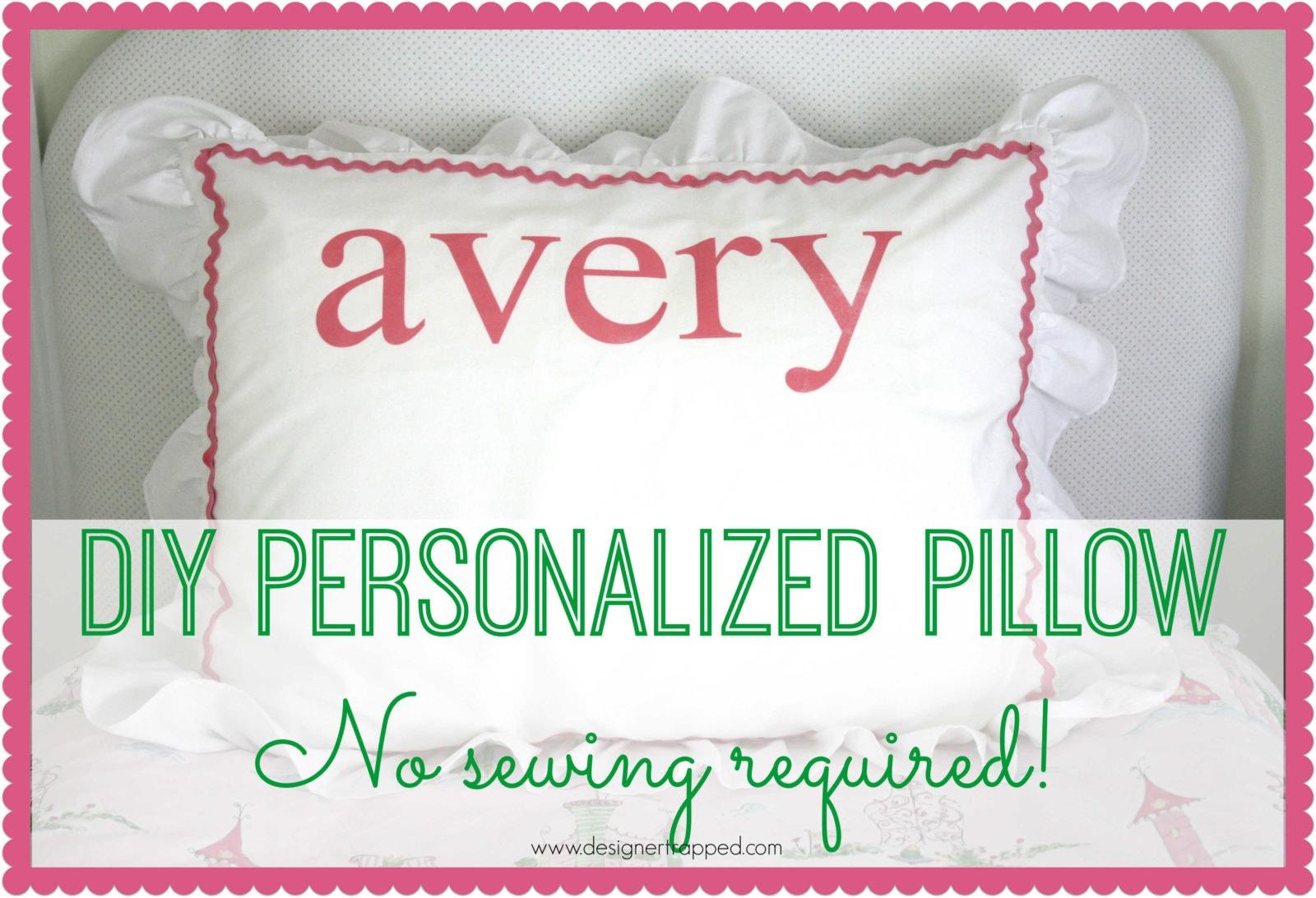 Diy Monogram Pillow No Sew Tutorial Designertrapped Com