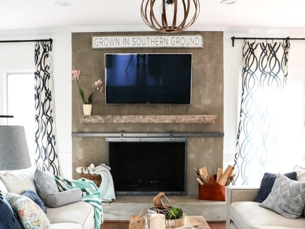 DIY Concrete Fireplace For Less than $100!