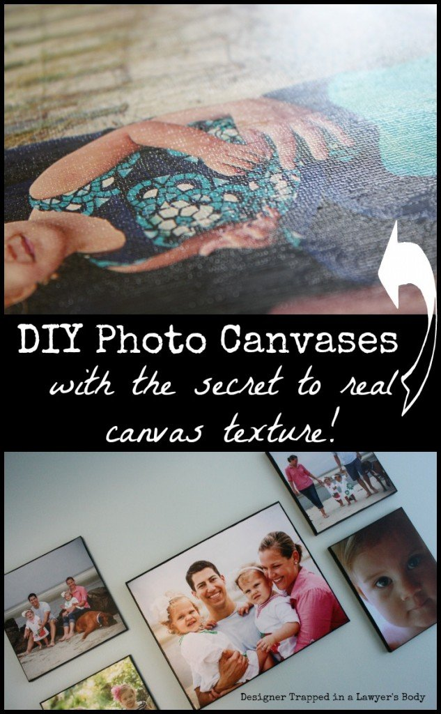 MUST PIN!  Best DIY Photo Canvas tutorial out there!   #diyphotocanvas #photocanvas