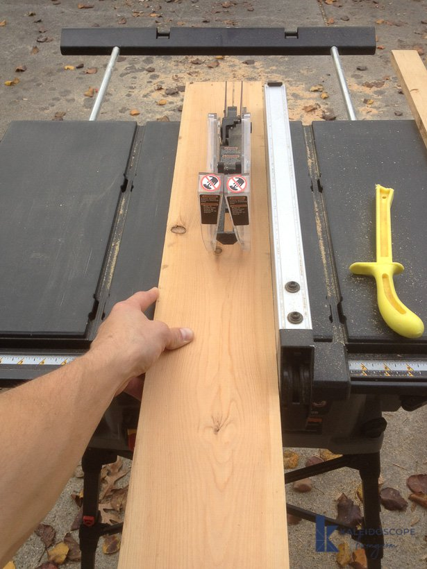 table saw ripping wood