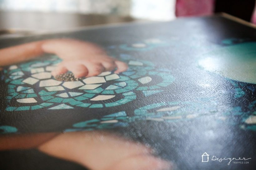 DIY photo canvas with texture