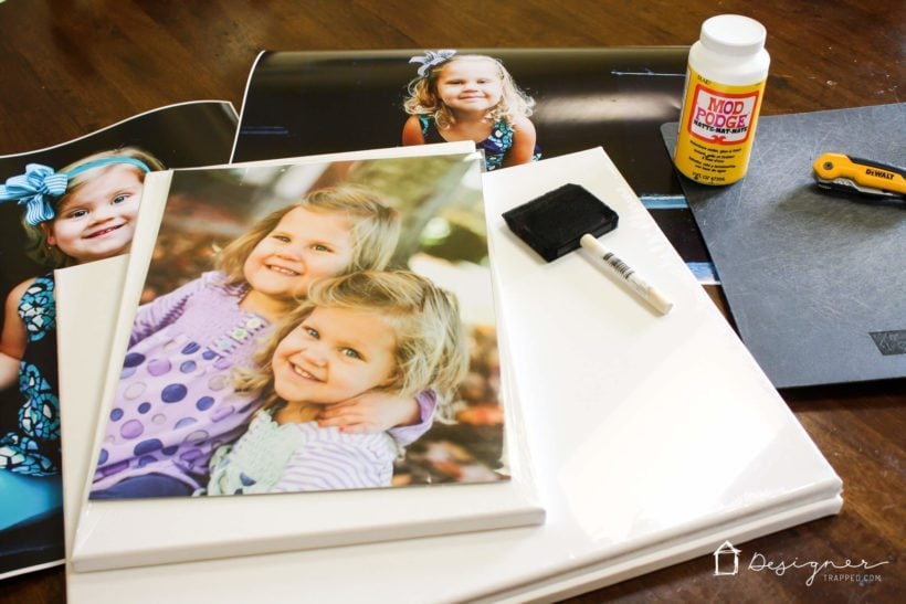 making a DIY photo canvas