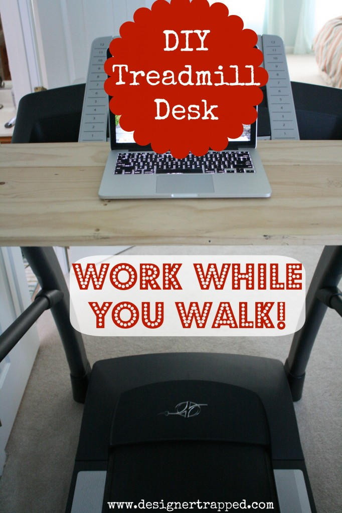 DIY Treadmill Desk Tutorial by Designer Trapped in a Lawyer's Body {designertrapped.com}