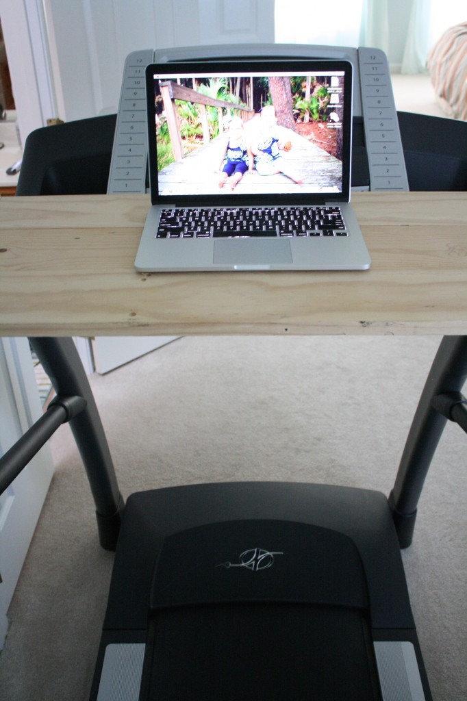 DIY Treadmill Desk- Full Tutorial by Designer Trapped in a Lawyer's Body {designertrapped.com}