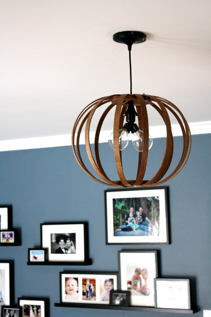 MUST PIN!  Totally genius idea for making a West Elm knock off Bentwood Pendant light.  Full tutorial by Designer Trapped in a Lawyer's Body.