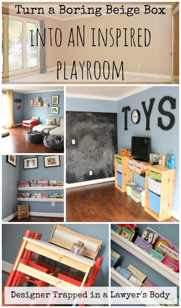 MUST PIN! Create an inspired playroom for your kids! Playroom reveal by Designer Trapped in a Lawyer's Body {designertrapped.com}