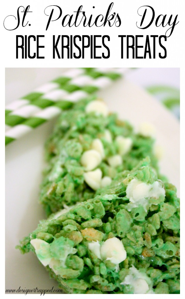 St. Patrick's Day Rice Krispies Treats by Designer Trapped in a Lawyer's Body {designertrapped.com}