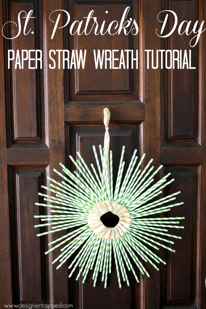St. Patrick's Day Wreath Tutorial by Designer Trapped in a Lawyer's Body {designertrapped.com}