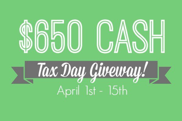 $650 Cash Tax Day Giveaway- Enter to win at Designer Trapped in a Lawyer's Body {designertrapped.com}