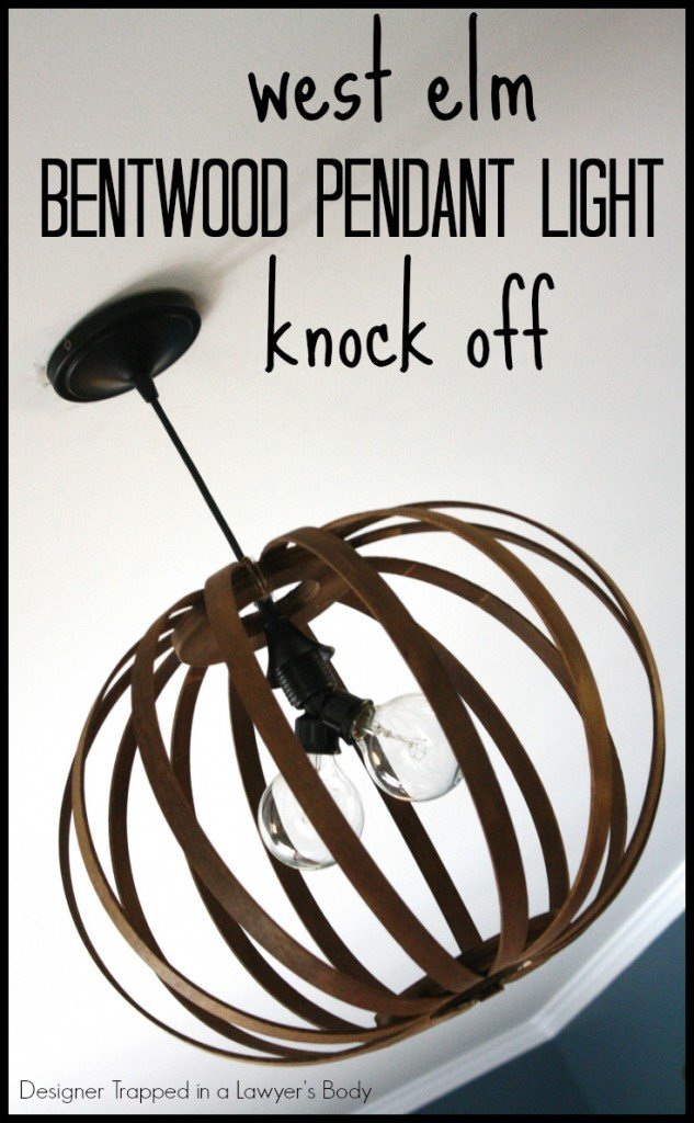 Knock Off Bentwood Pendant Light {via Designer Trapped in a Lawyer's