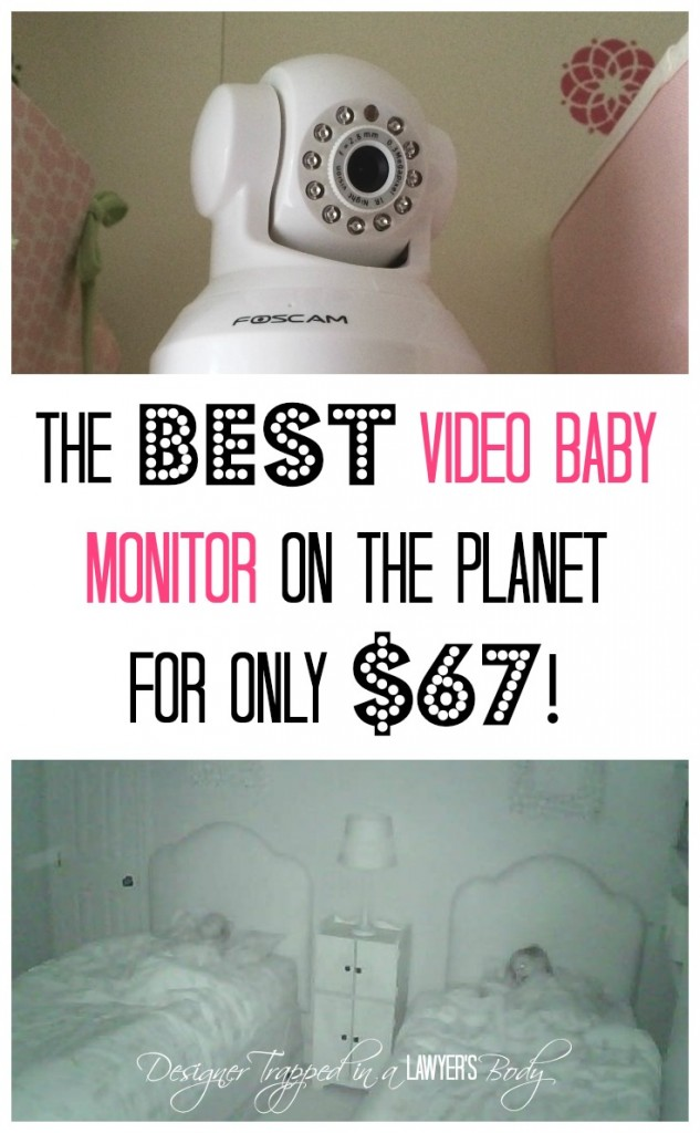 MUST PIN! The BEST and CHEAPEST video baby monitor! Come see all the details at Designer Trapped in a Lawyer's Body {designertrapped.com}