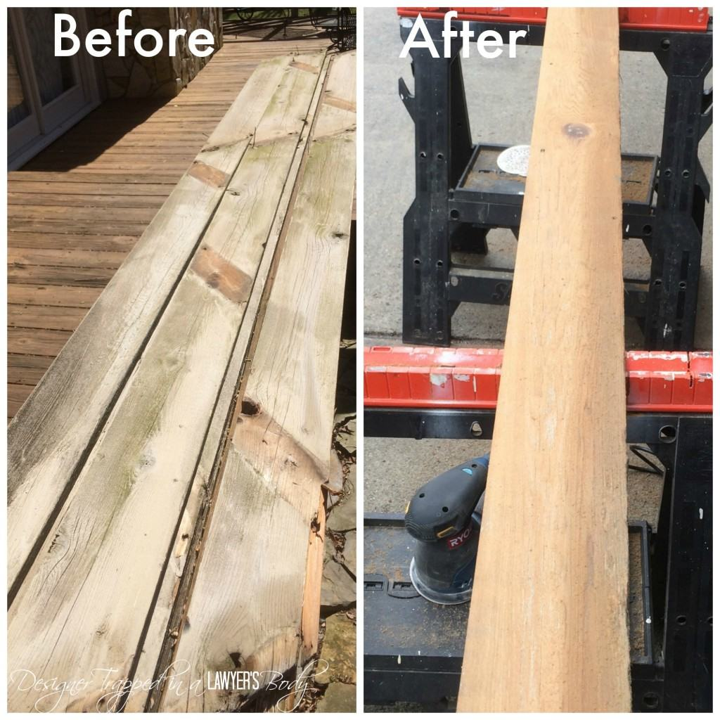before and after wood planks