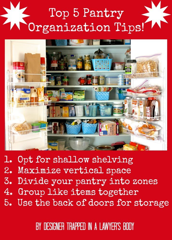 Pantry Organization tips by Designer Trapped in a Lawyer's Body {designertrapped.com}