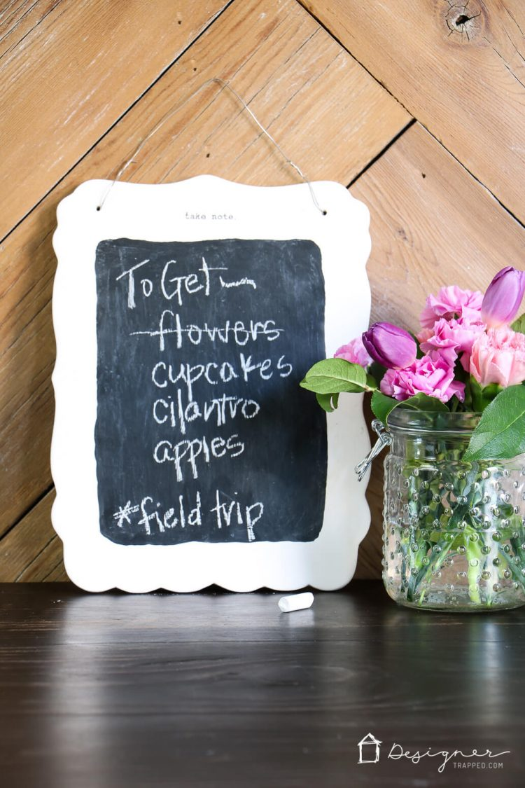 diy small chalkboard