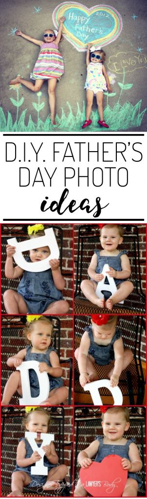 OMG, love these DIY Father's Day photo ideas.  Perfect Father's Day gifts!