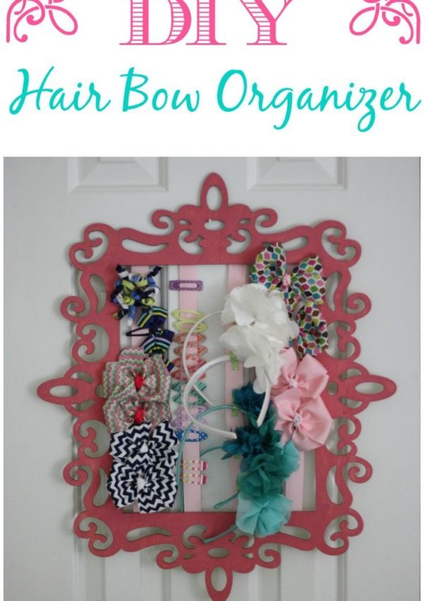 Easy, thrifty hair bow and headband organizer!