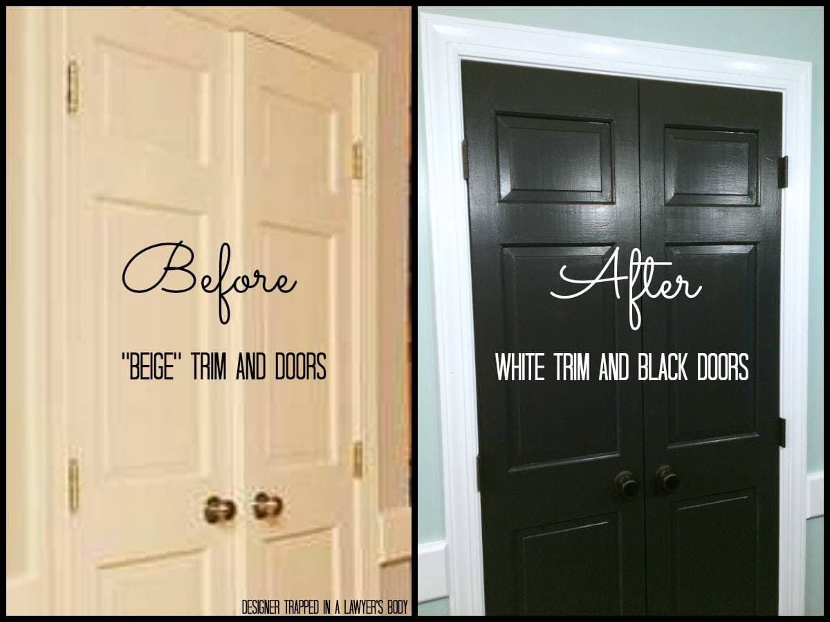 Black Doors And White Trim Easy Project Big Impact Designer Trapped