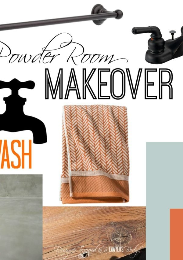 Makeover Plans for the Powder Room!