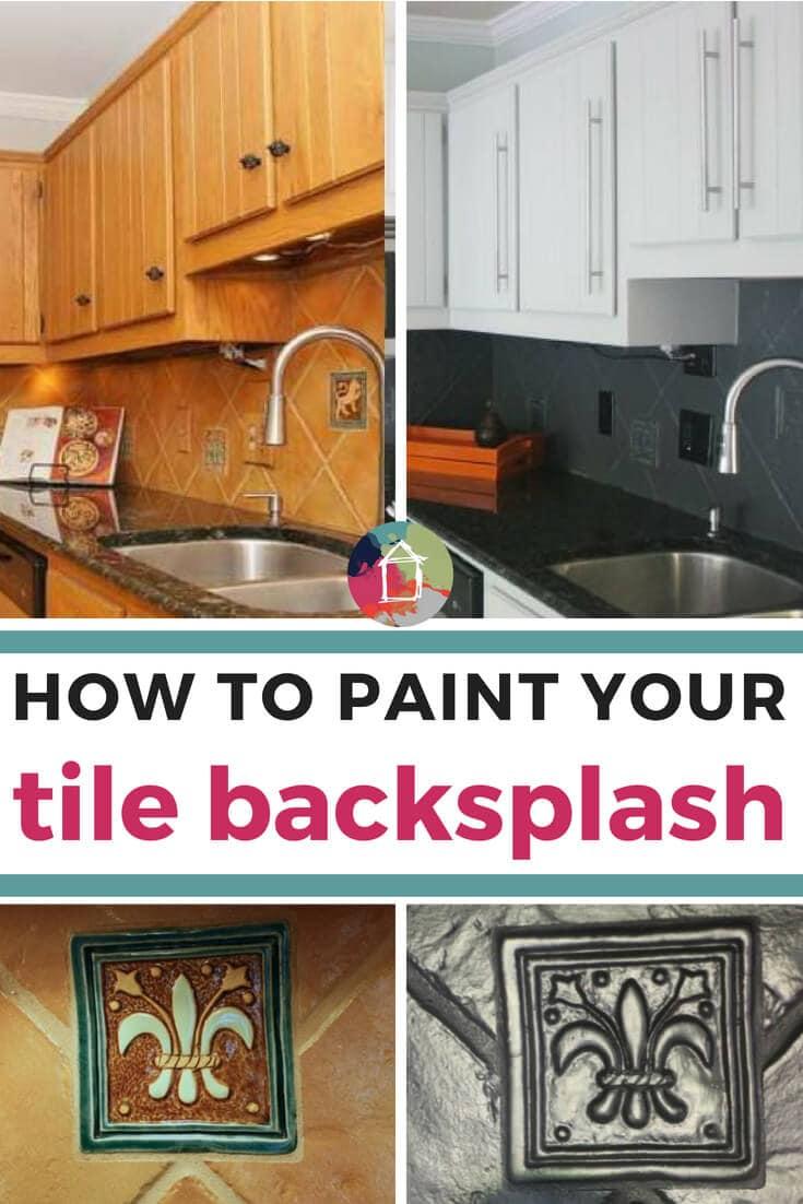 how to paint a backsplash