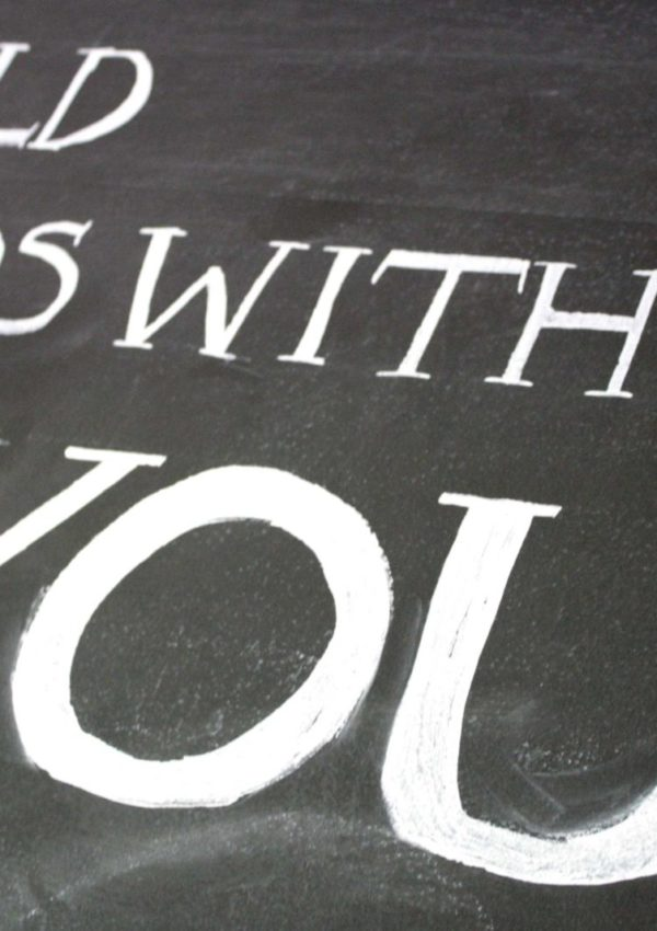 Easiest DIY Chalkboard Lettering Tutorial EVER!