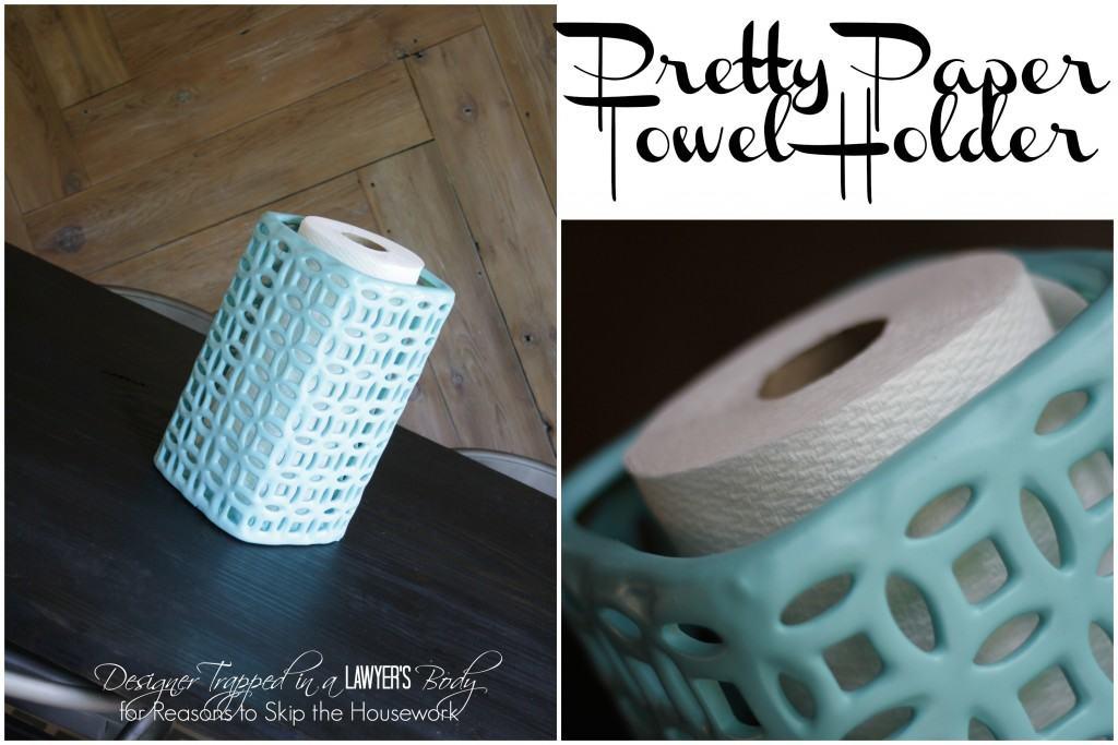 pretty paper towel holder
