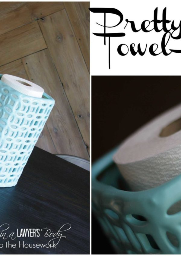 Pretty Paper Towel Holder {and an explanation of why I've been MIA}