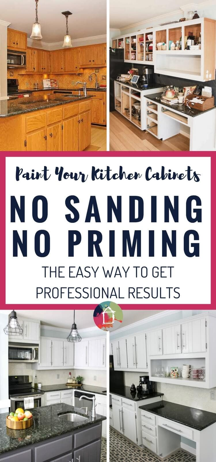 how to paint kitchen cabinets without priming or sanding