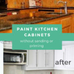 paint your kitchen cabinets without sanding or priming