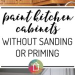 paint kitchen cabinets without priming or sanding