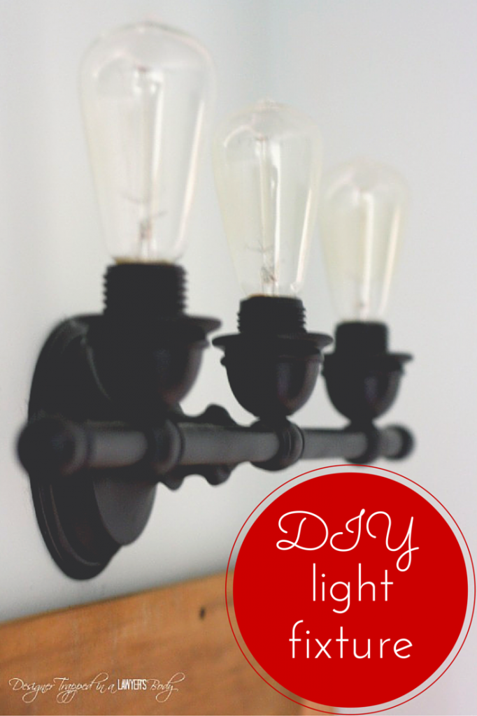 BRILLIANT! Easy DIY update to create beautiful industrial bathroom lighting for less than $30!