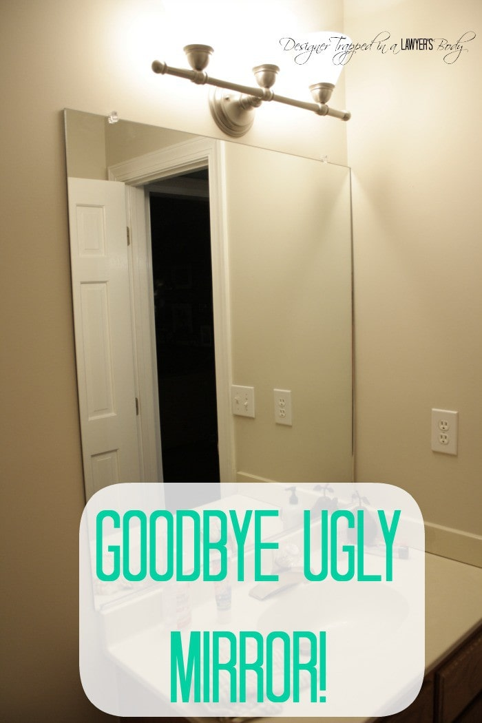 Reclaimed Wood Mirror With Concrete Inlay