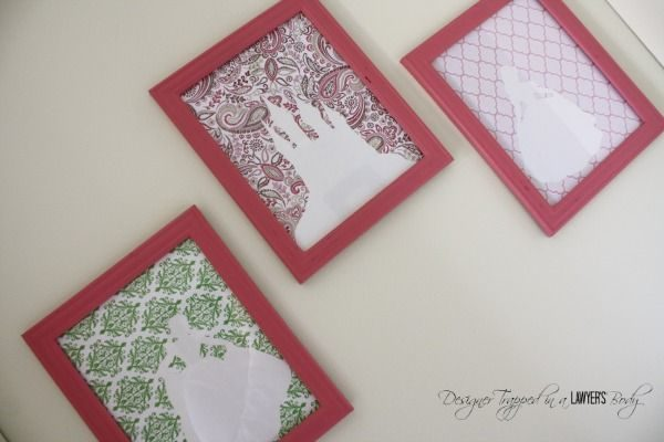 Easy, DIY princess art by Designer Trapped in a Lawyer's Body for All Things Thrifty!