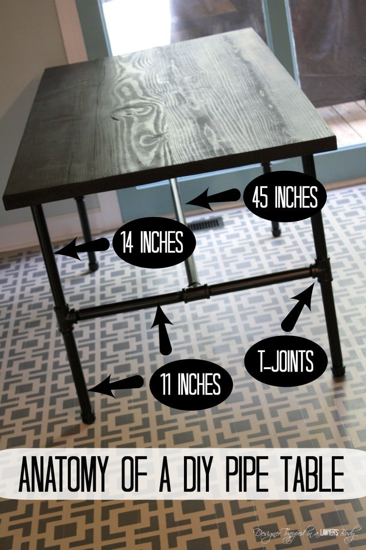 DIY Pipe Table measurements
