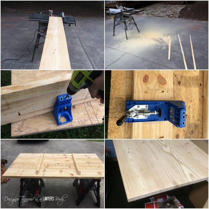 DIY Pipe Table construction