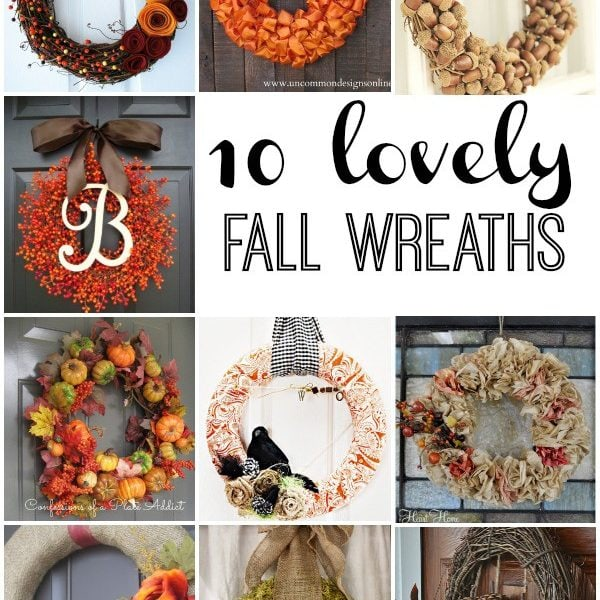 10 Lovely Wreaths rounded up by Designer Trapped in a Lawyer's Body for Reasons to Skip the Housework! #fallwreaths