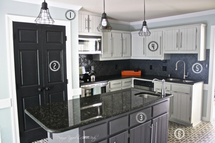 Shop this budget kitchen makeover! Full source list by Designer Trapped in a Lawyer's Body. #budgetkitchenmakeover