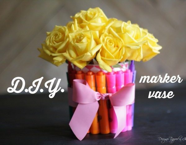DIY Vase for Back To School Gift!